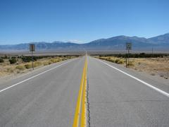 Hwy 50 Lonliest Road in USA - stock photo