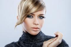 feather makeup - stock photo