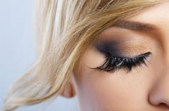 feather makeup - stock photo
