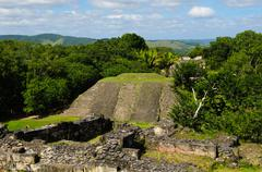 Xunantunich belize mayan temple Stock Photos