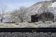 Stock Photo of Mogul Nevada RR Track House