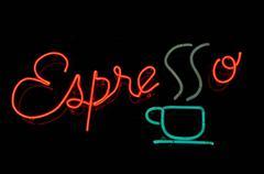 espresso neon sign - stock photo