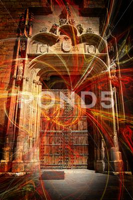 Stock Illustration of alcalá de henares cathedral (spain)