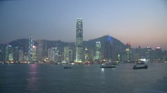 Victoria Harbour Time Lapse, Hong Kong Stock Footage