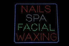 nails spa facial waxing - stock illustration