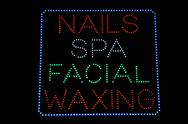 Stock Illustration of nails spa facial waxing