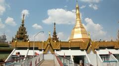 Sule pagoda in Yangon, Myanmar Stock Footage