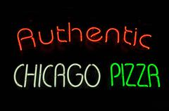 chicago pizza neon sign - stock photo