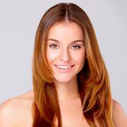 Beautiful young woman on white Stock Photos