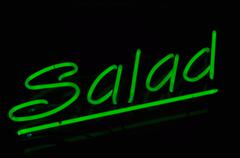 salad text neon sign - stock photo