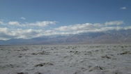Stock Video Footage of The salt flats of Badwater Basin in Death Valley