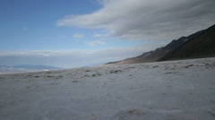 The salt flats of Badwater Basin in Death Valley Stock Footage