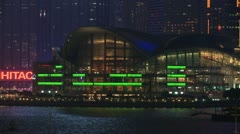 Wan Chai Convention Centre, Hong Kong Stock Footage