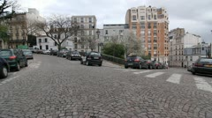 Montmartre streets. Stock Footage