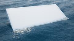 White block in water Stock Illustration
