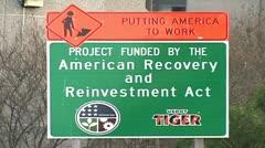 Obama Stimulus Act Stock Footage