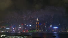 Victoria Harbour Fireworks, Hong Kong 4 Stock Footage