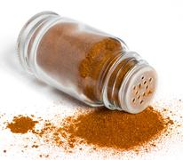 Spices in glass bottle Stock Photos