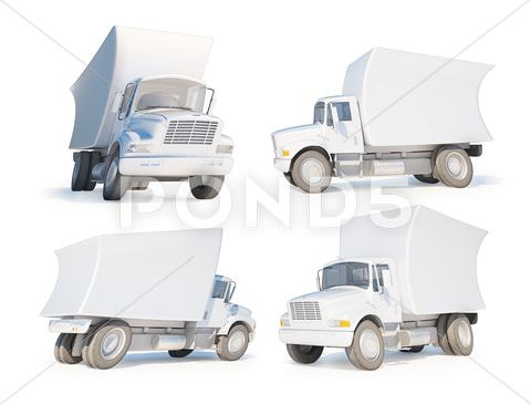 Stock Illustration of 3d cartoon van