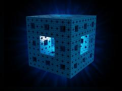 menger sponge - stock illustration