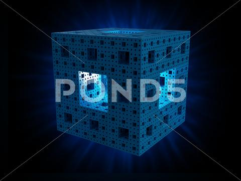 Stock Illustration of menger sponge