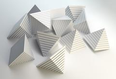 Stock Illustration of 3d pyramids abstract
