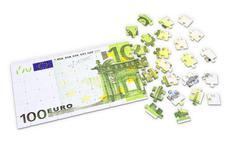 100 euro puzzle Stock Illustration