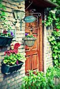 Cottage door Stock Photos