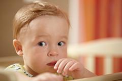 Little boy, fear look Stock Photos