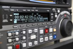 close-up of the front panel of the digibeta recorder - stock photo