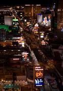 las vegas night panorama - stock photo