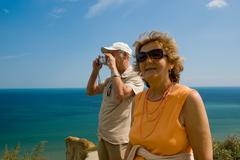 Active older couple Stock Photos