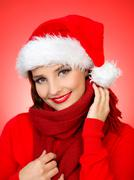 cute santa - stock photo