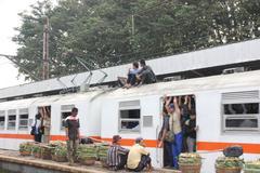 Economic train in Jakarta Stock Photos