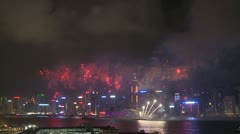 Victoria Harbour Fireworks, Hong Kong 13 Stock Footage