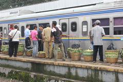 Commuter Train of Jakarta Stock Photos