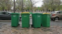 Paris recycles. Stock Footage