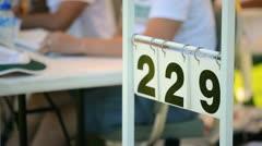 Cricket score board Stock Footage