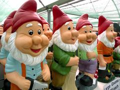 Gnomes in garden centre Stock Photos
