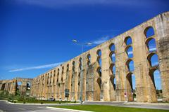 Aqueduct in old city of elvas. Stock Photos