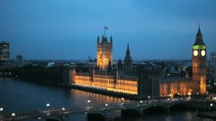 Houses of Parliament 05 - stock footage
