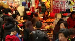 Wet Market, Fruit Vendor, Hong Kong Stock Footage
