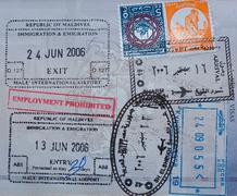 Passport visas Stock Photos