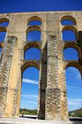 Aqueduct in old city of elvas, south of portugal. Stock Photos