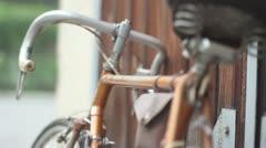 Vintage bicycle - stock footage