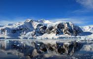 Stock Photo of sunshine on antarctica
