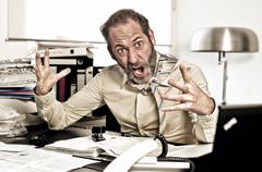 furious businessman - stock photo