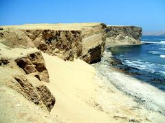 Coast in paracas, peru Stock Photos