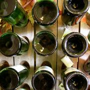 Old riddling rack, wine rack Stock Photos