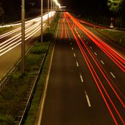 high speed car at night - stock photo